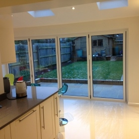 Kitchen with Bi fold Door