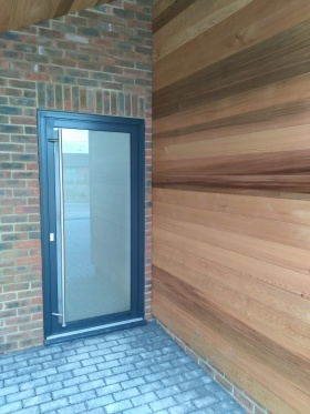 Aluminium door in Shrewton