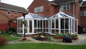 Double Victorian Conservatories Linked together