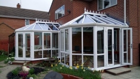 Double Victorian Conservatories Linked