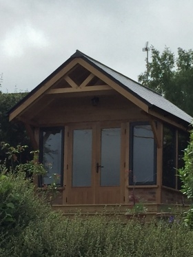 Alitherm windows in an Oak frame
