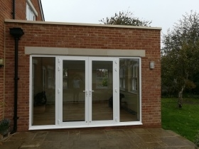 White Alitherm Orangery with Vertical sliding windows
